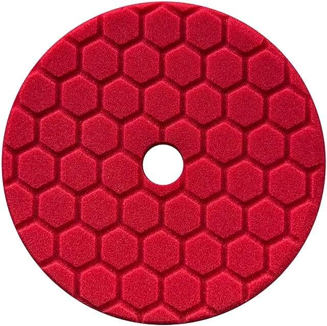 Red foam finishing pad.