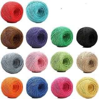 Jun 100 M colorido yute Twine Hemp Cord String for Gift Packing, Bohemia macramé cuerda