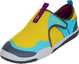 skoodo Kids Casual Sports Shoes (Boys and Girls 6-14 Years) - Winger Fly - Sunshine Yellow | Teal