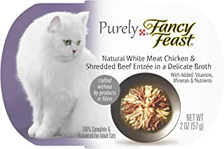 Purina Fancy Feast Purely Natural Entrees in a Delicate Broth Adult Wet Cat Food