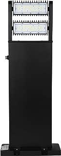 Hyperikon LED Bollard Light, 80W 32 Inch Square, Outdoor Landscape Lighting Pole, 5000K, IP65, Rotatable Light Head, UL