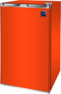 RCA RFR321-FR320/8 IGLOO Mini Refrigerator, 3.2 Cu Ft Fridge, Orange