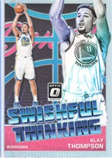 987bafc1cda1 2018-19 Donruss Optic Basketball Swishful Thinking Holo  2 Klay Thompson  Golden State Warriors
