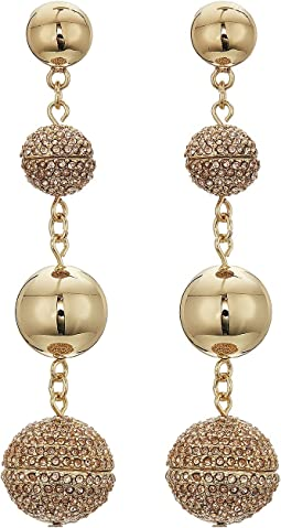 Rebecca Minkoff - Statement Sphere Drop Pave Earrings