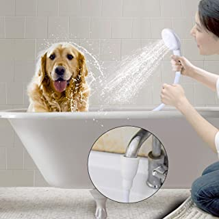 Besmon Pet Shower Sprayer for Bathtub,Tub Spout Shower Sprayer,Slip on Shower Hose,Shower Attachment for Tub Faucet, Dog Sprayer Shower Attachment,Sink Sprayer Attachment,Portable Shower Head