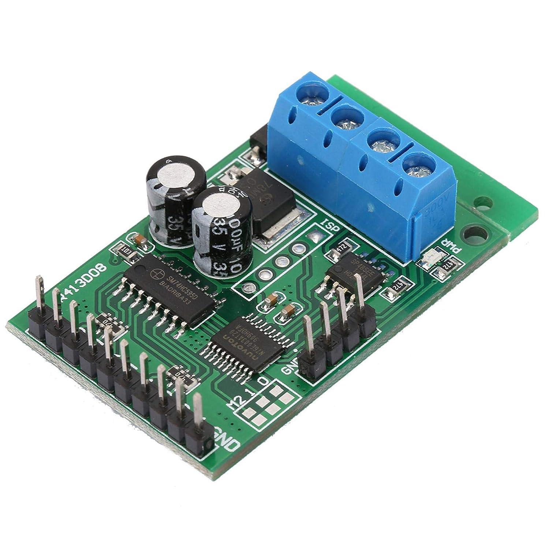 DC 6-24V RS485 AT Placa PLC de relé RS232 (TTL) Módulo de control RTU Placa de interruptor de relé UART Soporte PLC para Modbus