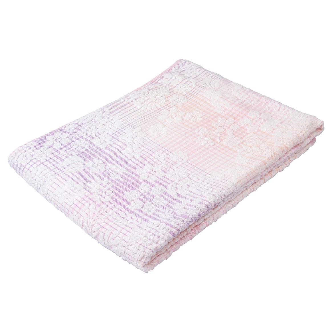 昆虫を見るリマーク引き受ける西川(Nishikawa) タオルケット ピンク シングル 綿100% ふわふわパイル グラデーション マイモデル RR09030000P