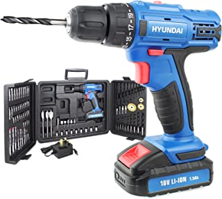 Sponsored Ad – Hyundai 18V Li-Ion Cordless Drill, Screwdriver, 1 Year Warranty, 1.5Ah Rechargeable Battery, Includes 89 Dr...