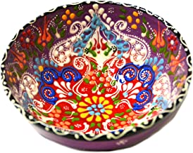 Turkish Ceramics~Hand Painted Ceramic Bowl-5 inch-Purple