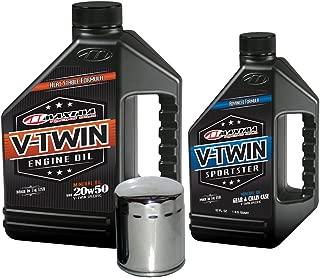MaximaHiflofiltro VTTOCK02 Complete Engine Oil Change Kit for V-Twin Harley Davidson Sportster, 5 Quart