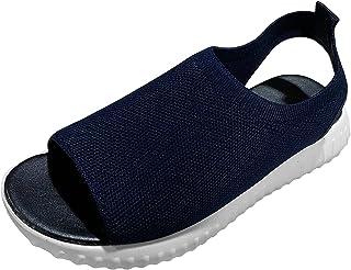 Geilisungren Damen Sneakers Casual Slip-on Strass Licht Atmungsaktive Walking Jogging Outdoor Flache Schuhe