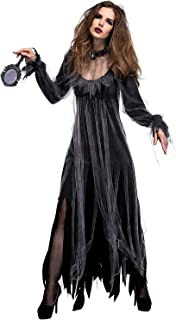 Women Scary Zombie Bloody Mary Costume Halloween Horror Ghost Bride Dress