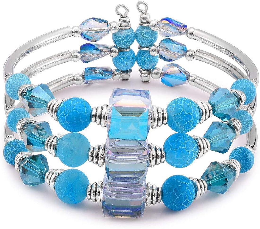 Cat Eye Jewels 8mm Healing Stones Beads Bracelet Double Triple Layered Adjustable Macrame Mens Bracelet