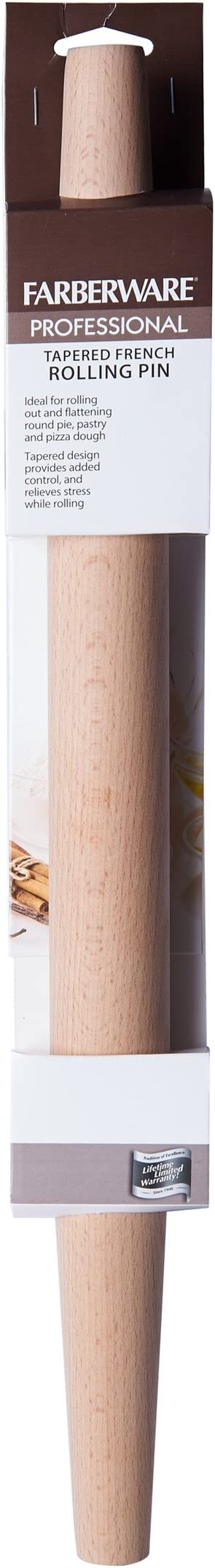 Farberware Professional French Wood Rolling Pin Kitchen Dining