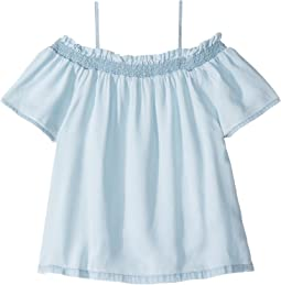 DL1961 Kids - Bleached Off the Shoulder Top (Little Kids/Big Kids)