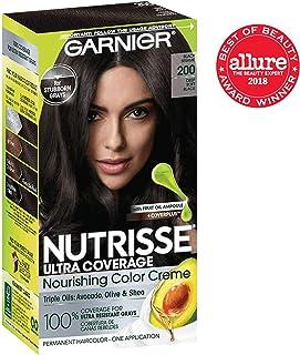 Garnier Nutrisse Ultra Coverage Hair Color, Deep Soft Black (Black Sesame) 200 (Packaging May Vary)