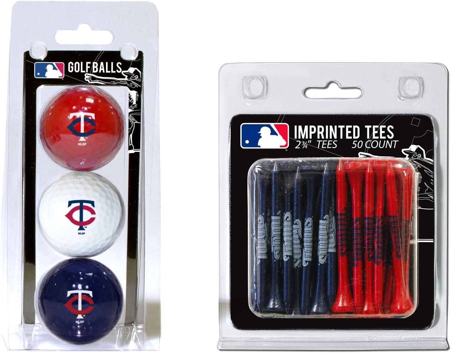 Team Golf MLB Minnesota Manufacturer OFFicial shop Twins 3 Logo Imprinted store Balls Count