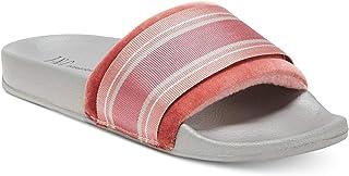 INC International Concepts Microvelour Varsity Slide Slippers (Wine, M-XL)