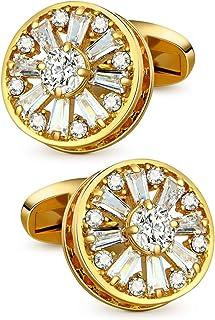 نقاشی های طلایی VIILOCK 18K با دکمه های کریستالی فوق العاده براق برای مردان و زنان دکمه های دکمه عروسی عروسک آقایان هدیه