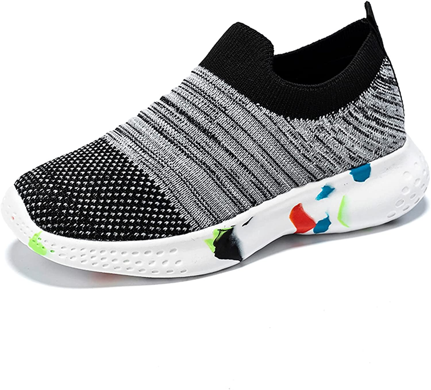 JUBAIYUAN Boys and Girls' Sports Shoes Children's Lightweight Slip-on Running Shoes Walking Tennis Shoes Suitable for Young Children/Older Kids