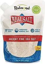 REDMOND Real Sea Salt - Natural Unrefined Organic Gluten Free Fine, 26 ounce pouch (1 Pack)
