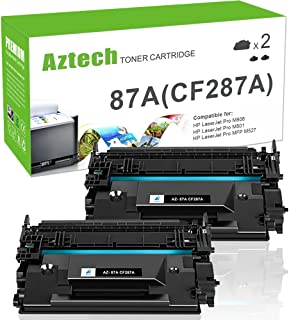Aztech Compatible Toner Cartridge Replacement for HP 87A CF287A 87X CF287X (Black, 2-Packs)