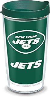 Tervis NFL New York Jets - Touchdown Insulated Tumbler with Wrap and Hunter Green Travel Lid, 16 oz - Tritan, Clear
