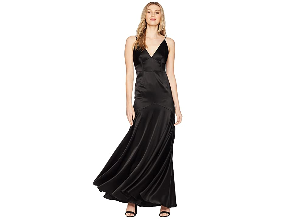 1930s Evening Dresses | Old Hollywood Dress JILL JILL STUART Corset Detail Gown Black Womens Dress $498.00 AT vintagedancer.com