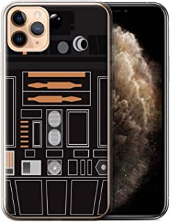 eSwish Gel TPU Phone Case/Cover for Apple iPhone 11 Pro Max/Black Imperial Design/Astromech Droid Collection
