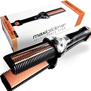Maixus Hair MaxiGlide RP Hair Straightener with Controlled Steam Burst Technology for Styling and Detangling
