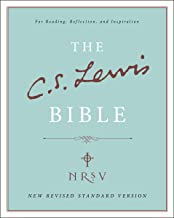 NRSV, The C. S. Lewis Bible, Bonded Leather, Burgundy: For Reading, Reflection, and Inspiration