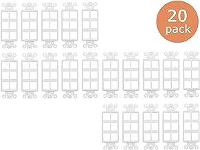 Tricom Quickport Decora Wall Plate Keystone Insert (20 Pack, 6 Ports)
