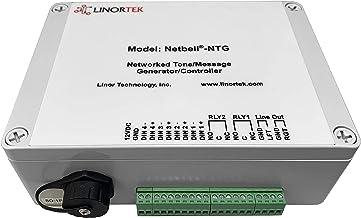 Linortek Netbell-NTG Network Multi-Tone Generator PA System Controller w/Web-Based Bell Scheduler Software to Schedule Cus...