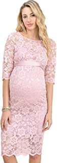 Hello MIZ Women's Baby Shower Floral Lace Maternity Dress
