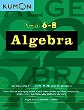 درجات algebra: 6–8(kumon Math workbooks)