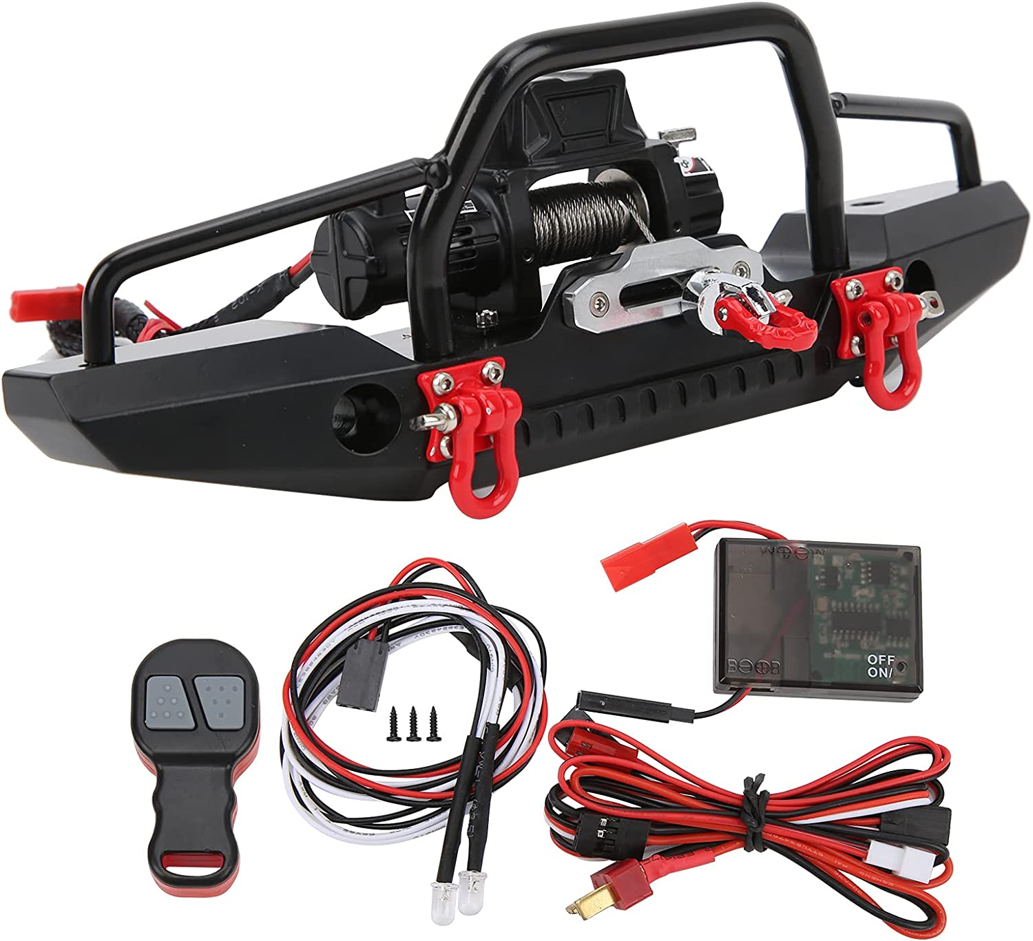 Jopwkuin RC lowest price Front Bumper Remo Winch Set safety with