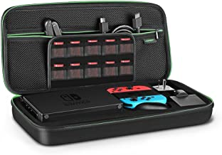 UGREEN Carrying Case for Nintendo Switch, Protective Travel Carrying Bag Shell Pouch for Nintendo Switch Console and Dock, AC Wall Charger, Grip and Joy-con, 20 Games Cards, and Accessories