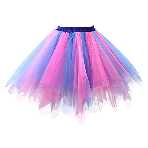 95df57f570 Girls Tutu Skirt Halloween Party Unicorn Rainbow Tulle Tutu Skirt Ballet  Bubble Tutu Women's 1950s Vintage