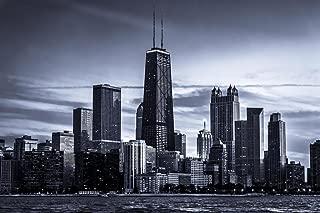 Chicago City Skyline Photo Art Print Cool Huge Large Giant Poster Art 36x54