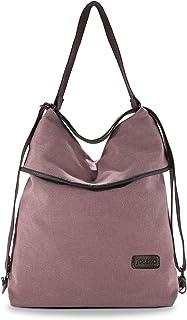 JOSEKO Canvas Tasche Segeltuch Vintage Rucksäcke Damen Schultertasche Handtasche Multifunktionsbeutel für Reise Outdoor Schule Einkauf Alltag Büro Kaffee