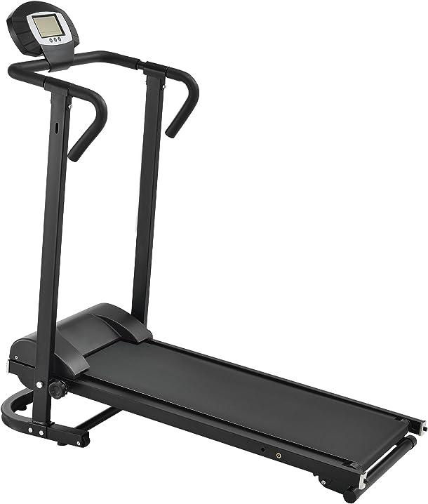 [in.tec] tapis roulant meccanico [nero] con lcd-display ribaltibile hometrainer b01gtk0mz2