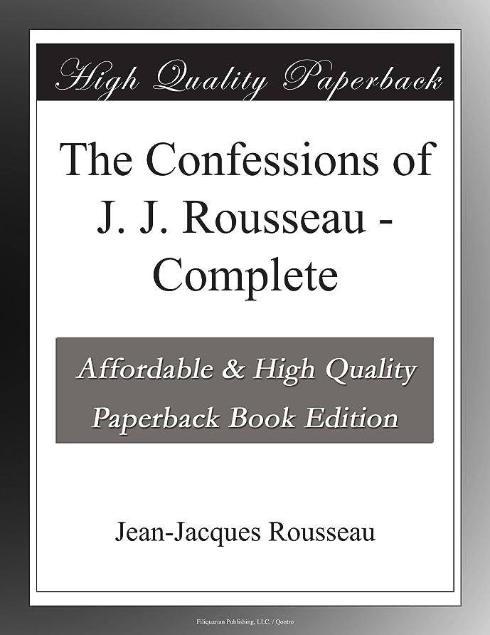 セラー汚染連鎖The Confessions of J. J. Rousseau - Complete