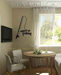 Black 30 x 46 Design with Vinyl Moti 1572 3 Id Rather Be Fishing Quote Mens Wildlife Outdoor Sports Peel /& Stick Wall Sticker Decal