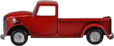 """Metal Vintage Half Truck, 10""""L x 4""""H (Aged Red, Left)"""