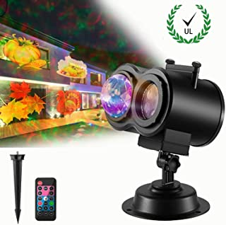 Christmas Lights Projector Water Streak Remote Control Indoor or Outdoor Waterproof Garden Decorations