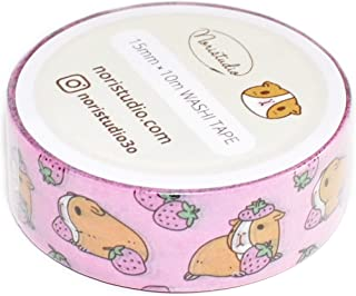 Guinea Pig and Strawberries Washi Tape