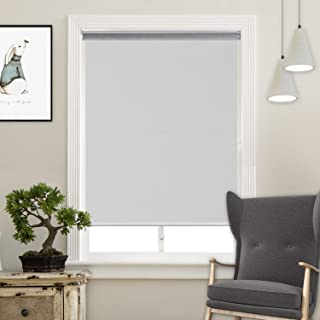 Acholo Cordless Roller Shades Light Blocking UV Protection Window Shades for Home,Hotel,Club,White 33x72