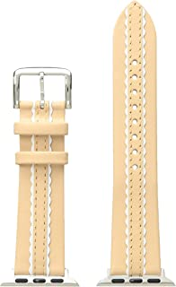 kate spade new york 38mm Apple Watch Band, Scallop Vachetta and White Leather, KSS003