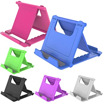 YENIE Desktop Cell Phone Stand Holder, Portable Universal Desk Stand for All Mobile Smart Phone Tablet Display (6 Mixed Colours