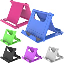 دارنده پایه ایستاده تلفن همراه YENIE ، پایه میز قابل حمل جهانی برای نمایش همه تبلت های تلفن همراه هوشمند (6 رنگ مختلط)